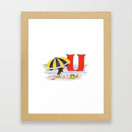 u is for umbrella Framed Art Print