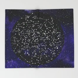 Celestial Map - Northern Hemisphere  Throw Blanket