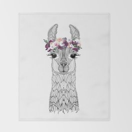 FLOWER GIRL ALPACA Throw Blanket