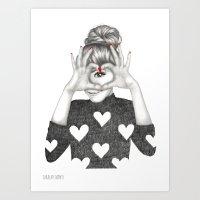 valentine Art Prints featuring Valentine by Sara Elan Donati