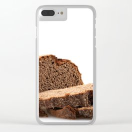 Sliced Black Bread Clear iPhone Case