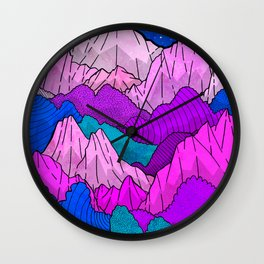 The night time hills Wall Clock