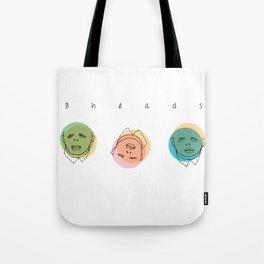 3 heads Tote Bag