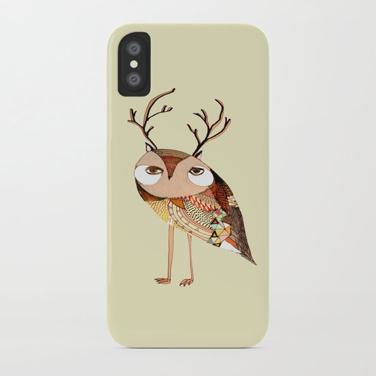 owl print, owl illustration, owl art, owl  iPhone Case