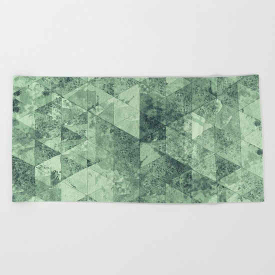Abstract Geometric Background #12 Beach Towel