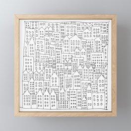 Coit City Pattern 1 Framed Mini Art Print