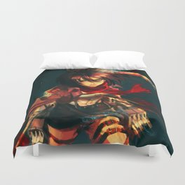 Worth a Hundred Soldiers Duvet Cover