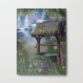 Wishing Well Waterfall Metal Print