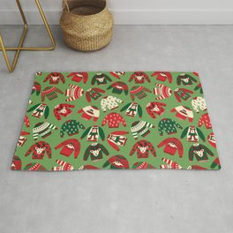 Ugly Christmas Sweaters Pattern Rug