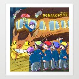 Osomatsu Kun and Neko Bus! 02 Art Print