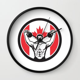 Canadian Physical Fitness Canada Flag Icon Wall Clock