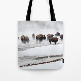 Yellowstone National Park - Bison Herd Tote Bag