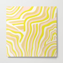 yellow zebra stripes Metal Print