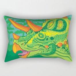 Triceratops (lime) Rectangular Pillow