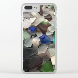 Sea Glass Assortment 1 Clear iPhone Case