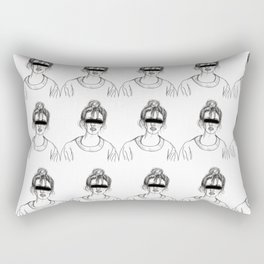 Blind Thoughts Rectangular Pillow