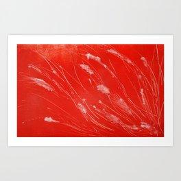 Red Tide Sea Grass Art Print