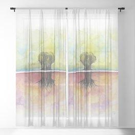 As Above So Below No18 Sheer Curtain