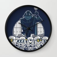 minions Wall Clocks featuring Stormtrooper Minions by Hugo Martin