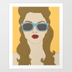 Shady Lady Art Print