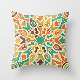 Sun mandala pattern Throw Pillow
