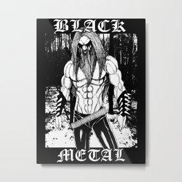 Black Metal Warrior Metal Print