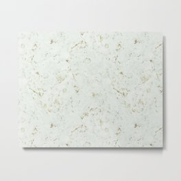 Green Natures Gold Marble Metal Print