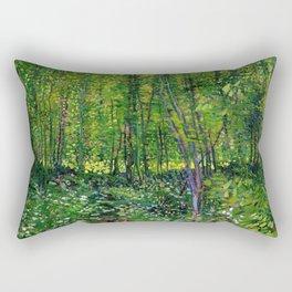 Vincent Van Gogh Trees and Undergrowth 1887 Rectangular Pillow