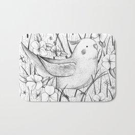 Cockatiel in Grass Bath Mat