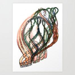 worm wrangler Art Print