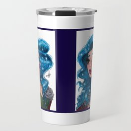 Snowflakes Travel Mug