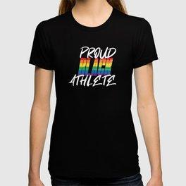 Proud Black Athlete Distressed Texture T-shirt