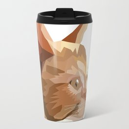 Geometric Kitten Digitally Crafted Travel Mug