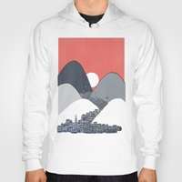 sun Hoodies featuring Midnight Sun by David Fleck