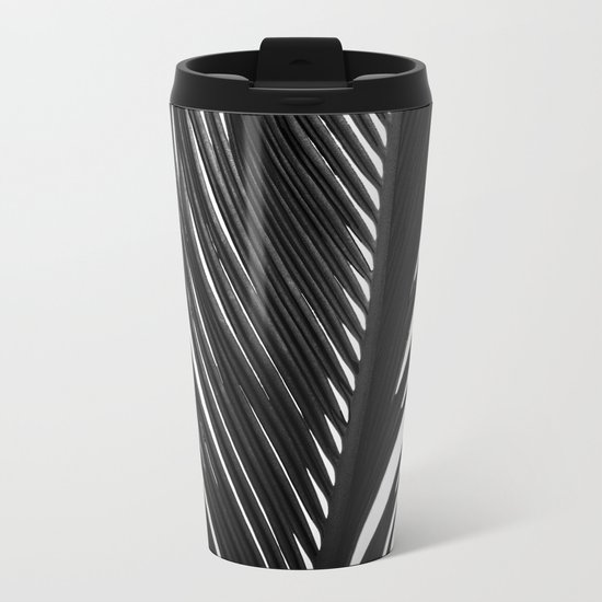 Palm: The Abstract in Black Metal Travel Mug