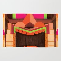 tiki Area & Throw Rugs featuring Tiki by Cimone Key