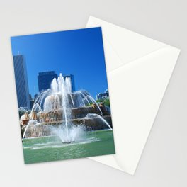 Buckingham fountain Stationery Cards