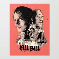 kill bill Canvas Prints featuring Kill Bill by RJ Artworks