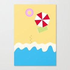 hey beach! Canvas Print