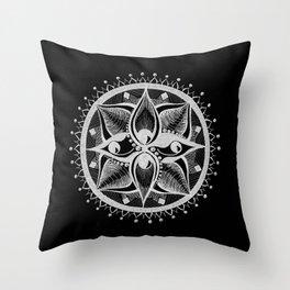 Four Eyed Mandala Throw Pillow
