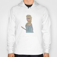 elsa Hoodies featuring Elsa by Sierra Christy Art