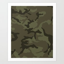 Army Camouflage Art Print