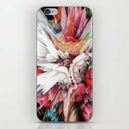 Floral Glitch II iPhone Skin