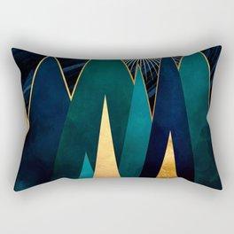 Metallic Peaks Rectangular Pillow