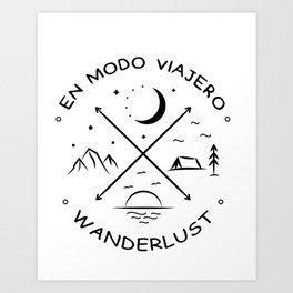 Wanderlust compass Art Print