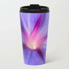 Close Up of A Morning Glory Purple and Pink Flower Travel Mug