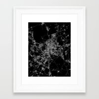 madrid Framed Art Prints featuring Madrid by Line Line Lines