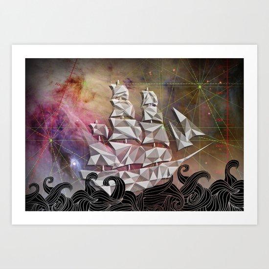 Celestial Ship Art Print