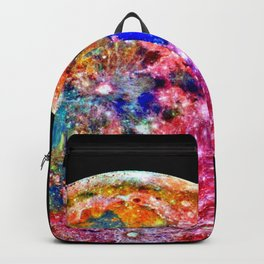 Colorful Moon Surface Backpack