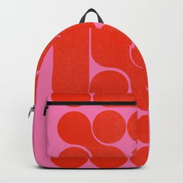 Abstract mid-century shapes no 6 Backpack